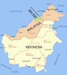Borneo Travel Guide Map